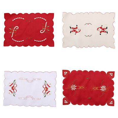 Christmas Tableware Pad Cutlery Holder Placemat Table Dinner Runner Decor HOT