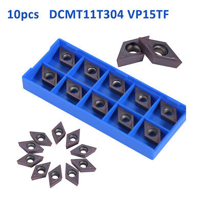 10Pcs DCMT11T304 VP15TF CNC Carbide Tips Inserts Blade Cutter Lathe Turning Tool