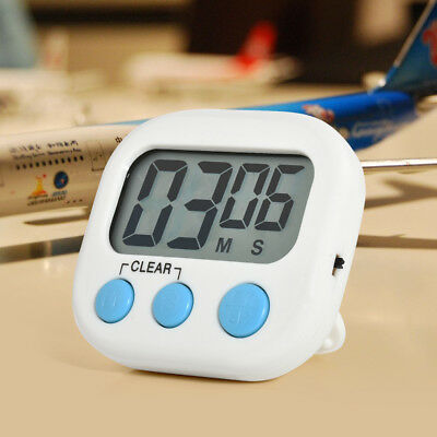Large LCD Digital Kitchen Cooking Timer Count-Down Up Magnetic Clock Loud Alarm
