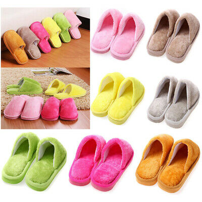 Men Women Home Indoor Anti-slip Flat Casual Slippers Soft Warm Cotton Shoes