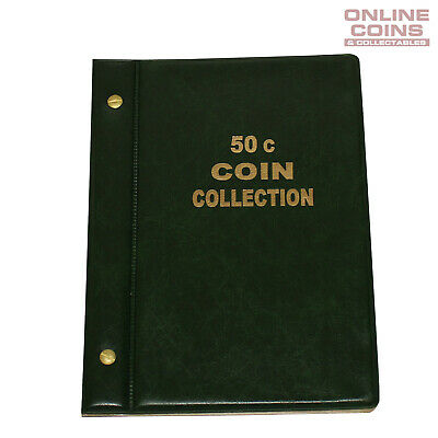 VST Australian 50c Coin Album 1966-2018 With Printed Mintage Interleaves GREEN
