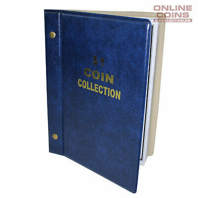 VST Australian $1.00 Coin Album 1984-2018 With Printed Mintage Interleaves BLUE