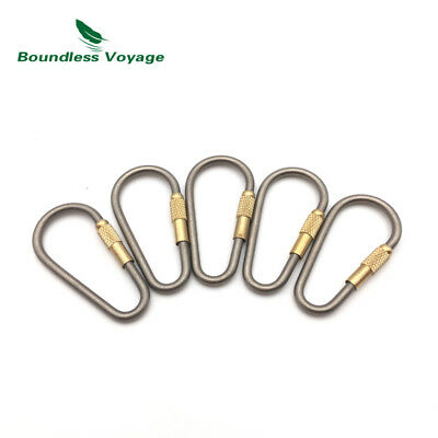 Boundless Voyage Titanium Carabiner Pack Locking Titanium Keychain Hook with Bag