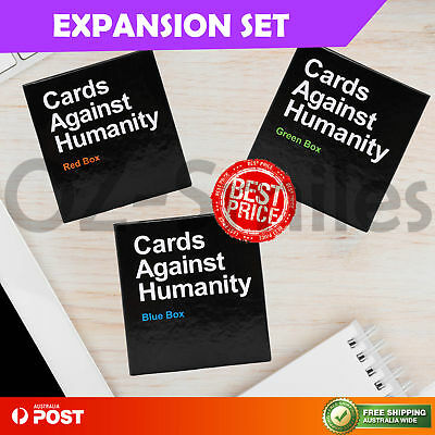 Cards Against Humanity Australian Expansion Set BLUE GREEN RED Party Card Game