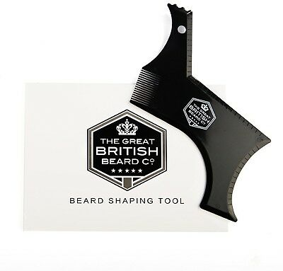 British Beard Shaping Tool For Perfect Lines And Symmetry. Beard Styling And