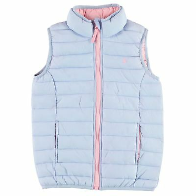 Joules Kids Croft Padded Packaway Junior Girls Gilet Jacket Robinsons New