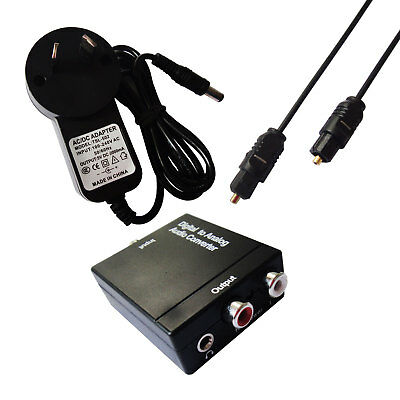 3.5MM Digital Optical Coax Coaxial Toslink to Analog Audio Converter Adapter