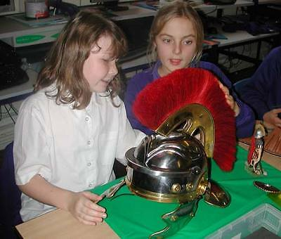 Vintage Collectibles Medieval Roman officer Centurion Helmet Armor With Red Plum