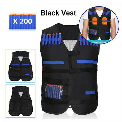 Kids Boy Tactical Vest for Nerf N-Strike Elite Battle Game Series Dart Tag Kit
