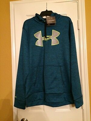 NWT Size L Men's Under Armour Hoodie Storm 1 Loose Fit 1259778 405 MSRP $59