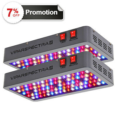VIPARSPECTRA 2pcs 450W LED Grow Light 12 Band Spectrum with VEG BLOOM Switches