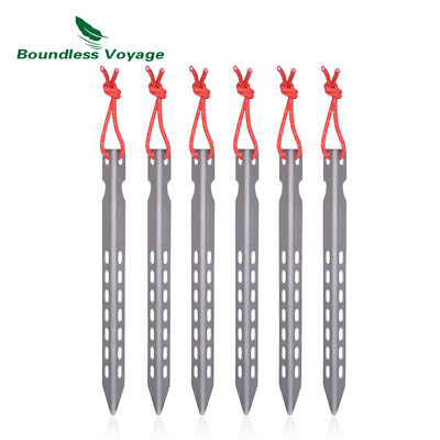 Boundless Voyage 6/8/12 pcs Titanium Pegs Camping Tent Stakes Portable Tent Nail