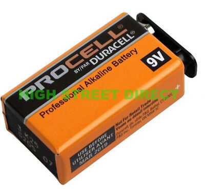 Duracell Industrial 9V PP3 Block Alkaline Batteries MN1604 Replaces Procell