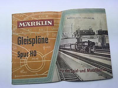 MARKLIN Track Lay-outs Plans Booklet Vintage 1957