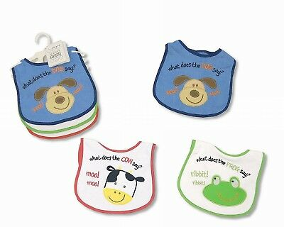 Pack of 3 Baby Boy Bibs Gifts With Embroidery