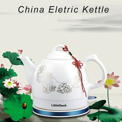 Chinese Ceramic Electric Kettle Cordless Temperature Control Water Teapot 1.2L