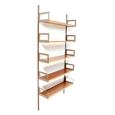 Retro Vintage Danish Teak Wall Unit Shelving System Bookcase Book Shelves 70s