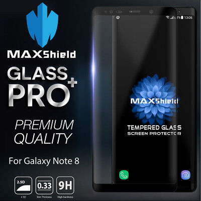 Samsung Galaxy Note 8 MAXSHIELD 3D Tempered Glass Full Coverage Screen Protector