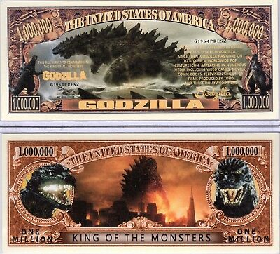 Godzilla - King of the Monsters - Movie Series Million Dollar Novelty Money