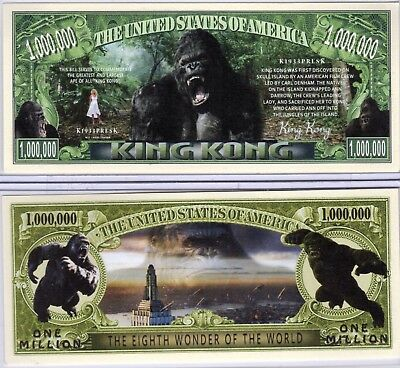 King Kong - Movie Series Million Dollar Novelty Money