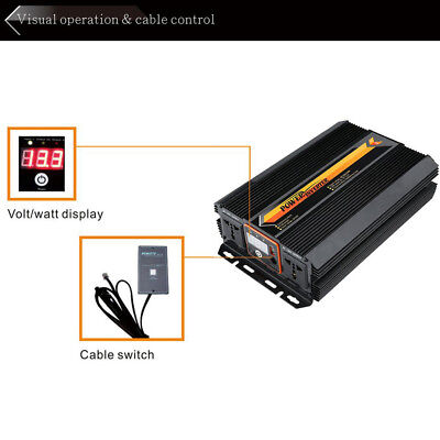 Power Inverter Converter DC 12V/24V 1500W/3000W with LCD Display Durable