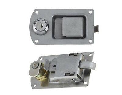 2 x Paddle Lock Stainless Steel Mini Flush lock Recessed Mounted Latch Door