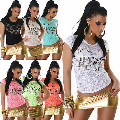 New Sexy Women Clubbing Top Ladies Party Blouse Girls T shirt Size 8 10 12 S M L