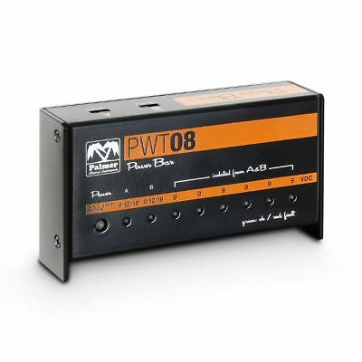 Palmer MI PWT08 Universal 9V Pedalboard Power Supply With 8 Outputs