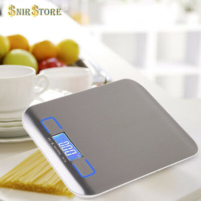 LCD Digital Kitchen Weight Scale Cooking Measure 5Kg x 1g Food Diet Postal Slim