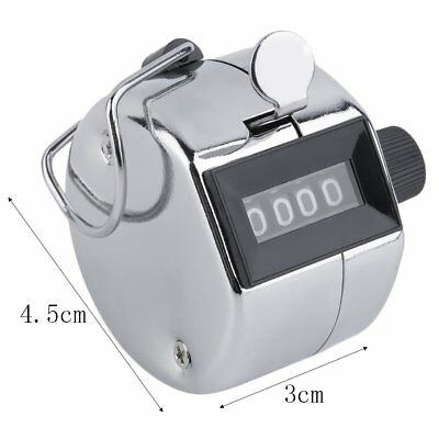 Hand Held Tally Counter Manual Counting 4 Digit Number Golf Clicker NEW BI