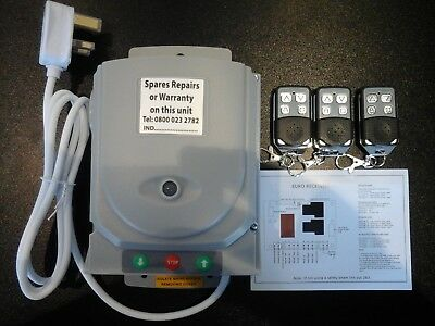 Neco Roller Shutter  Remote Control Kit C/w 3 Hand Sets & Buttons Full System