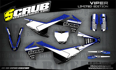 SCRUB Husqvarna FC 250 350 450 2016-2017 '16 '17 Grafik Sticker Dekor-Set