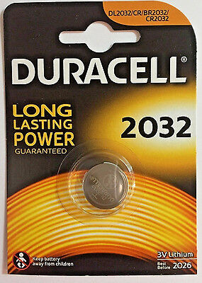 CR 2032 3V Lithium Coin Cell Battery, 2032, DL2032, BR2032, Ex-2026 Duracell