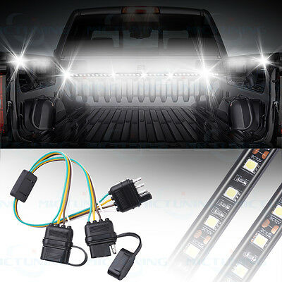 Car Trailer Splitter 4Pin Harness Connector Tailgate Light Bars Adapter Univeral
