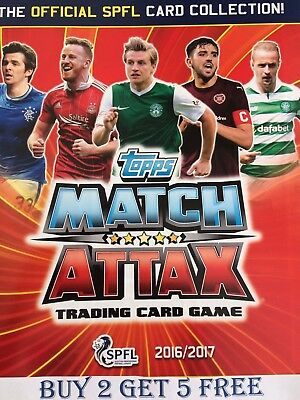 Match Attax 16/17 Spfl Cards 181 - 216 Ross County/St Johnstone Buy 2 Get 5 Free