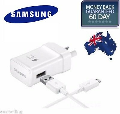 GENUINE SAMSUNG FAST AC Wall Charger GALAXY S10E S9 S8 S7 S6 Edge Plus Note 4 5