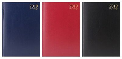 2018 Day to page A4 Desk Diary Hardback Case bound Desk Diary