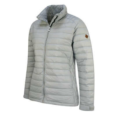 Cross Down Jacket with Shaped Fit in Silver Grey
