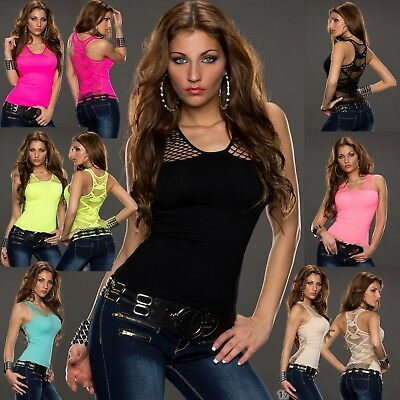 New Sexy Women Clubbing Party Top Ladies Summer Mesh Shirt Size 6 8 10 12 S M L