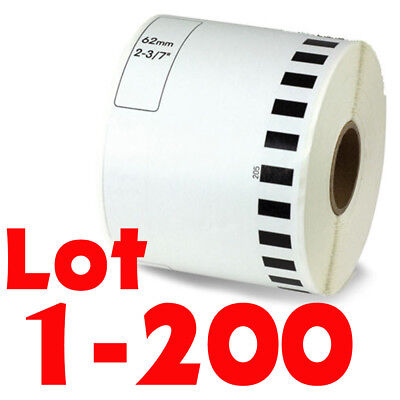 LOT 1-200Rolls DK-2205 Continuous Label Compatible Brother® Option of CARTRIDGE