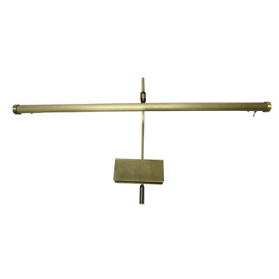 "19"" Adjustable Led Grand Piano Lamp - Antique Brass"