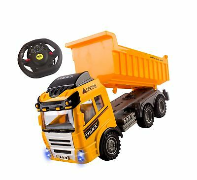 RC Dump Truck Toy Construction Truck Remote Control Truck 4CH Full Function B...