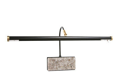 "19"" Adjustable Led Grand Piano Lamp - Black/marble Plated"