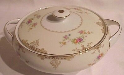 """Vintage Made In Japan Meito """"ambassador"""" Pattern Fine China Covered Dish W/lid"""