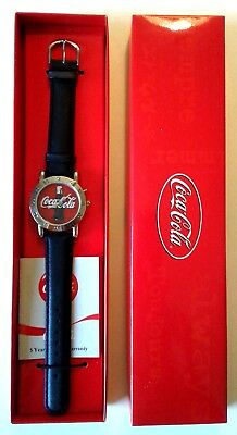 NEW !! 2002 LIGHT UP COCA COLA WATCH in ORIGINAL RED BOX, MINT - NEVER WORN !!!