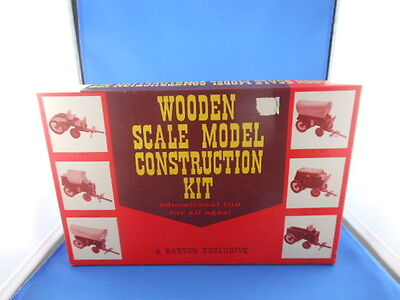 Vintage Wooden Scale Model Construction Kit Stage Coach