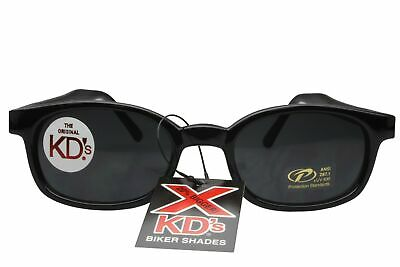 X KD's Sunglasses Original Biker Shades Motorcycle Black Dark Gray 1120