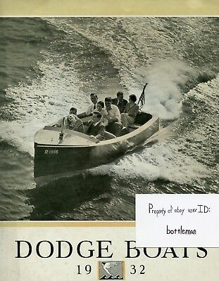 Vintage Original 1932 Dodge Boats Brochure Catalog With Typed Company Letter