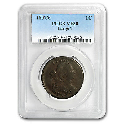 1807/6 Large Cent VF-30 PCGS - SKU#153853