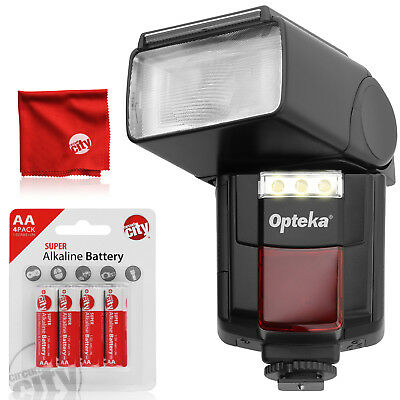 Opteka Autofocus Flash w/ Built-In Video Light for Canon Nikon Pentax Sony Fuji